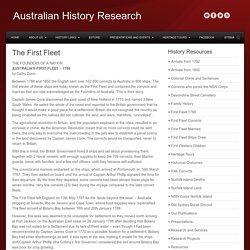 The First FleetAustralian History Research