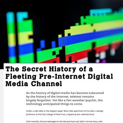 The Secret History of a Fleeting Pre-Internet Digital Media Channel - Motherboard