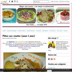 Flétan aux carottes (pour 1 pers)