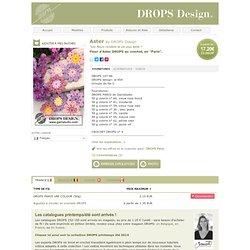 """Fleur d'Aster DROPS au crochet, en """"Paris"""""""