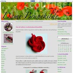 Tuto de la fleur crochetée façon Brunehilde - Dame Brunehilde