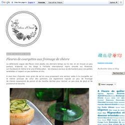 Fleures de courgettes aux fromage de chèvre