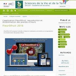 """Le logiciel """"FleurOfruit"""", dans le cadre du peuplement des milie"""