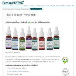 Fleurs de Bach Mélanges - Eureka Pharma