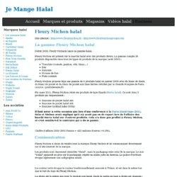 Fleury Michon halal - Je mange Halal