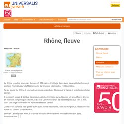 Rhône, fleuve : Universalis Junior