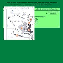 Carte à compléter : les fleuves, montagnes, bassins et mers en France