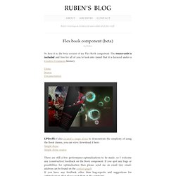 Flex book component (beta) : Ruben's blog