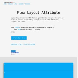 Flex Layout Attribute (FLA)