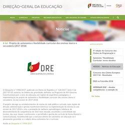 Projeto de autonomia e flexibilidade curricular dos ensinos básico e secundário (2017-2018)