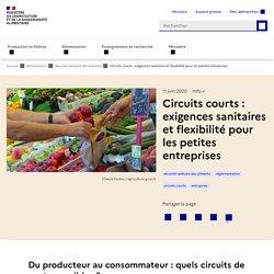MAA 18/01/19 Circuits courts : exigences sanitaires et flexibilité pour les petites entreprises