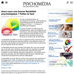 Test : flexibilité psychologique