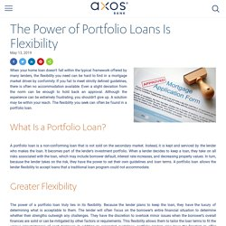 Portfolio Loan Flexibility: Mortgages & Investment Property