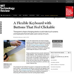 A New Flexible Keyboard Features Clickable Buttons
