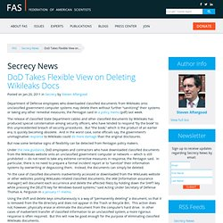 DoD Takes Flexible View on Deleting Wikileaks Docs