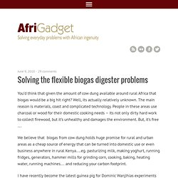 Blog Archive » Solving the flexible biogas digester problems