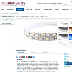 Flexible 16.4' 72W 300 Diodes 5050 Double Color LED Strip Light - DERUN LED