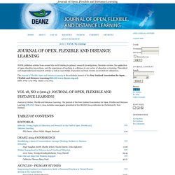 Journal of Open, Flexible and Distance Learning