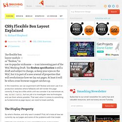 CSS3 Flexible Box Layout Explained - Smashing Coding