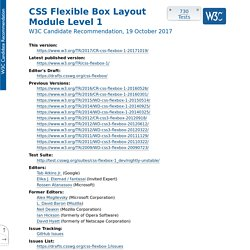 CSS Flexible Box Layout Module Level 1