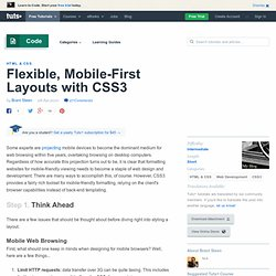 Flexible, Mobile-First Layouts with CSS3