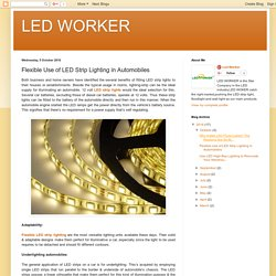 LED WORKER: Flexible Use of LED Strip Lighting in Automobiles
