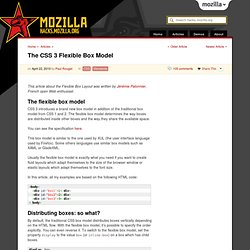 The CSS 3 Flexible Box Model