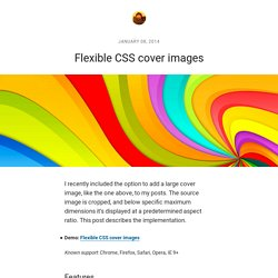 Flexible CSS cover images
