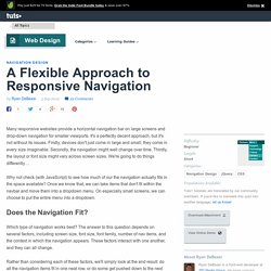 A Flexible Approach to Responsive Navigation