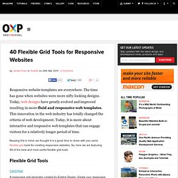 40 Flexible Grid Tools for Responsive Websites