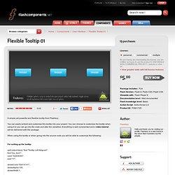 Flexible Tooltip 01 - Flash Components