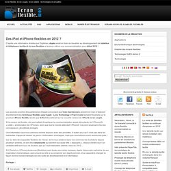 flexibleiPad et iPhone flexibles (rumeur 2012)