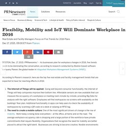 Principaux acteurs : Flexiblity, Mobility and IoT Will Dominate Workplace in 2016