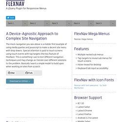 FlexNav - A jQuery Plugin for Responsive Menus