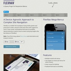 FlexNav - Flexible, Device Agnostic Navigation