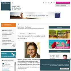 FlexNieuws - Hans Kamps, ABU: 'De voorzitter wordt uitzendkracht'