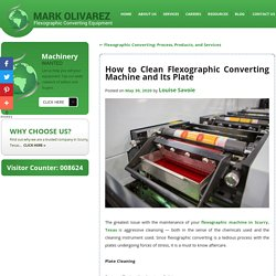 How to Clean Flexographic Converting Machine and Its Plate