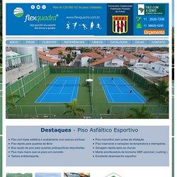 Piso Asfáltico para Quadras de Tênis e Poliesportivas