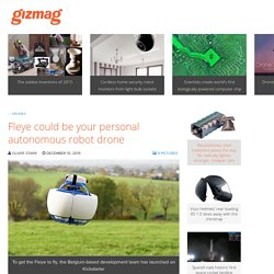 Fleye could be your personal autonomous robot drone
