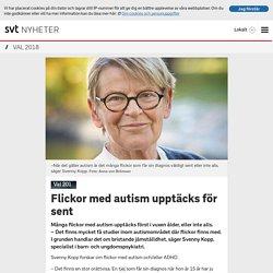 Flickor med autism upptäcks för sent