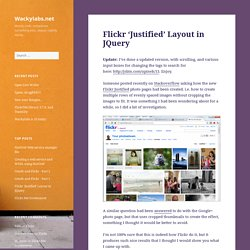 Flickr 'Justified' Layout in JQuery – Wackylabs.net