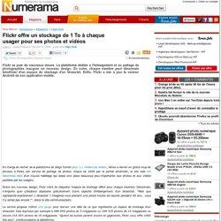 Flickr offre un stockage de 1 To à chaque usager pour ses photos et vidéos