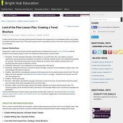 Lord of the Flies Travel Brochure: Short Lesson Plan Idea