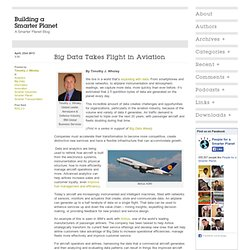 Big Data Takes Flight in Aviation