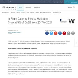 In-Flight Catering Service Market to Grow at 5% of CAGR from 2017 to 2021