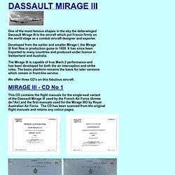 Flight Manuals on CD - Dassault Mirage III