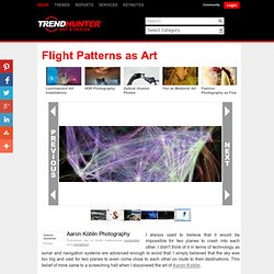 Flight Patterns as Art - Aaron Koblin Photography