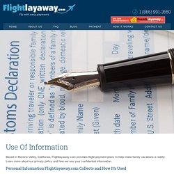 Use Of Information of Flight LawAway