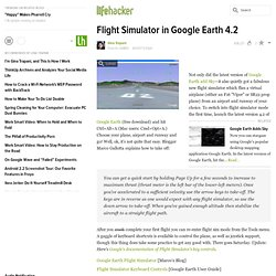 Flight Simulator in Google Earth 4.2