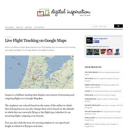 Live Flight Tracking on Google Maps - Track Airplanes in Real-Ti